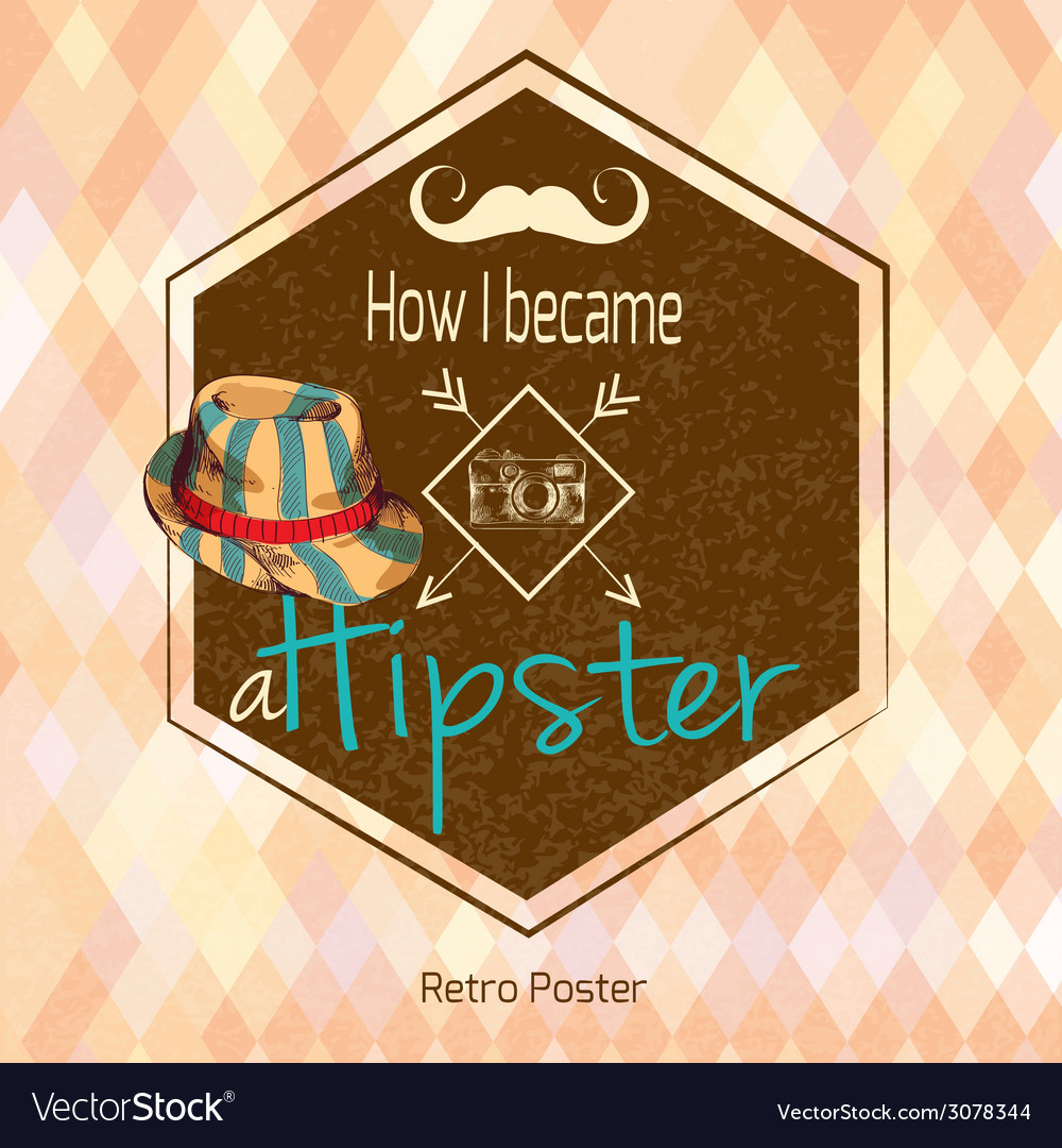 Hipster retro poster vector | Price: 1 Credit (USD $1)
