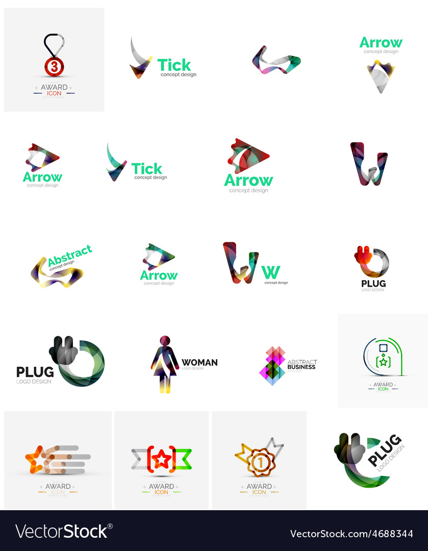 Logo collection abstract geometric business icon vector | Price: 1 Credit (USD $1)