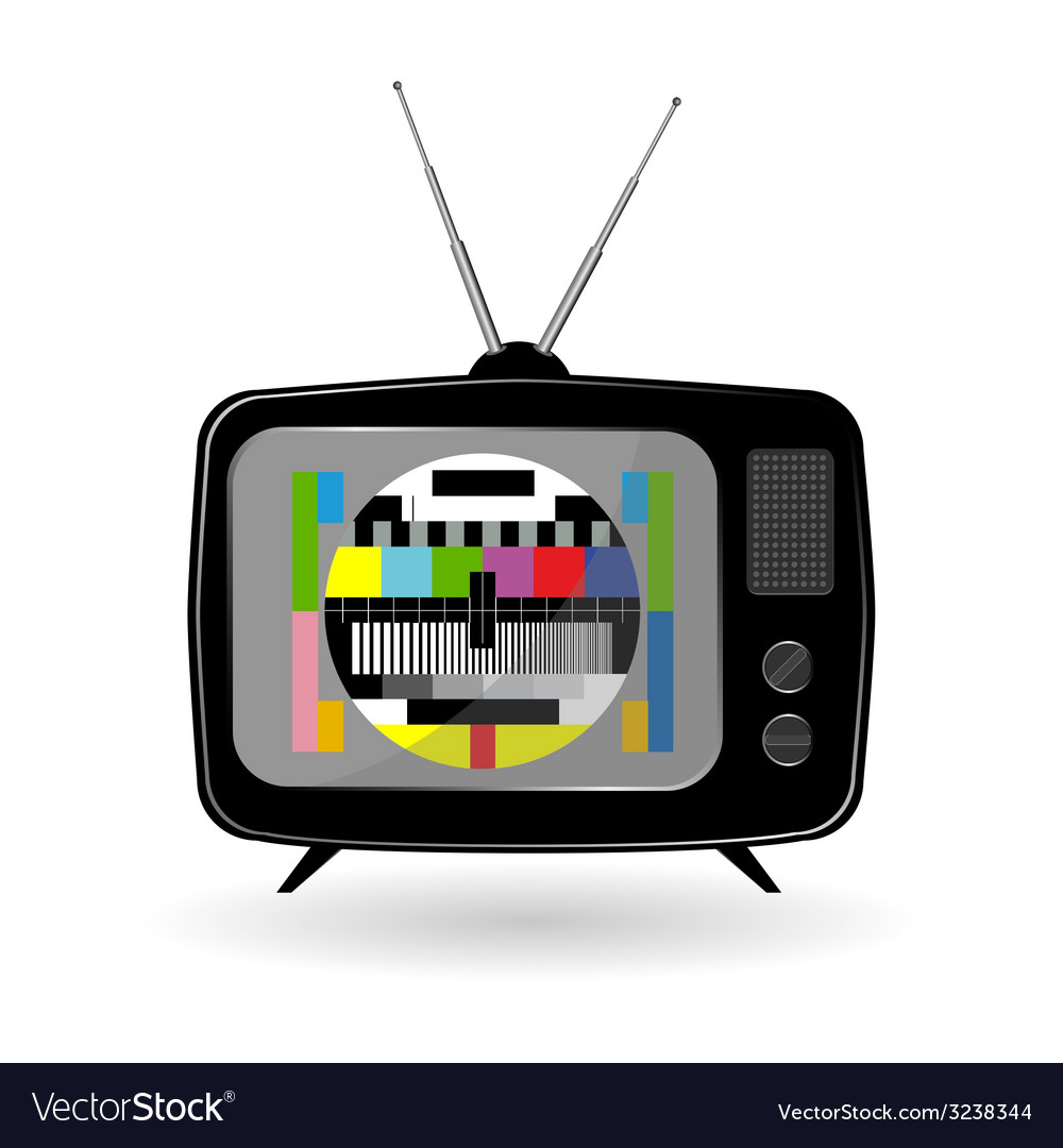 Old tv with tv test vector | Price: 1 Credit (USD $1)