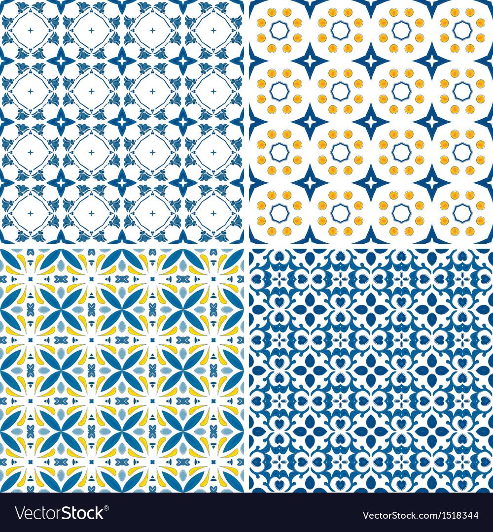 Portuguese tiles set vector | Price: 1 Credit (USD $1)