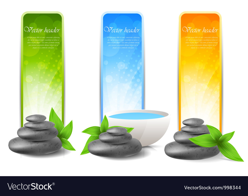Set of spa banners vector | Price: 1 Credit (USD $1)