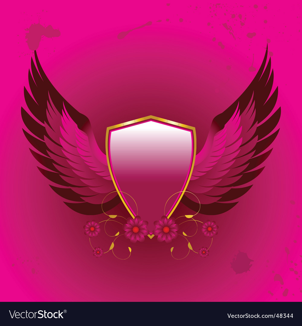 Shield and wings vector | Price: 1 Credit (USD $1)