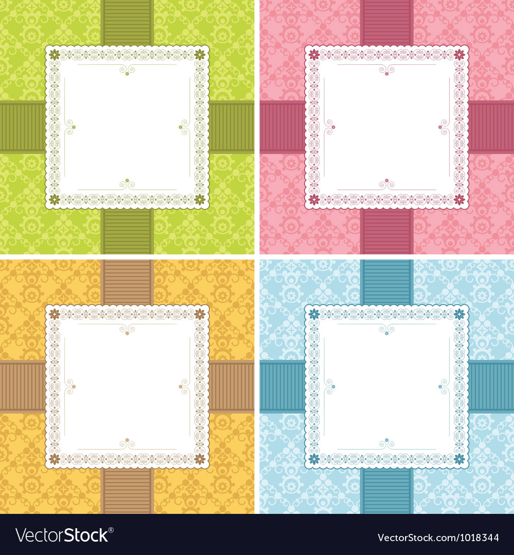 Square frame decorations vector | Price: 1 Credit (USD $1)