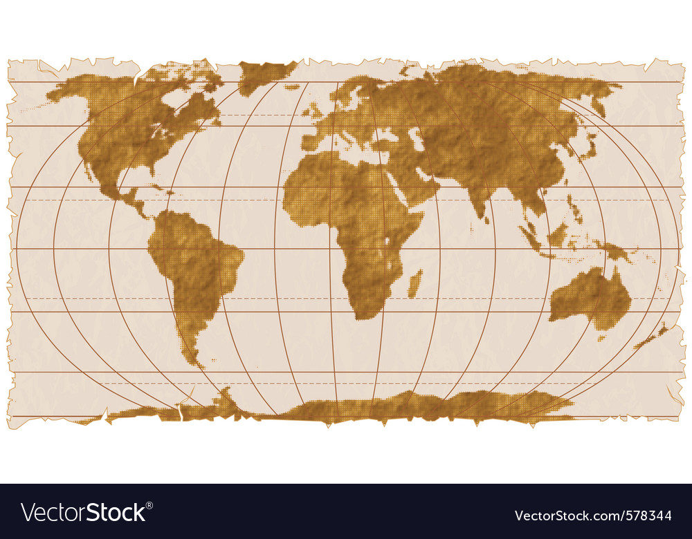 Vintage geographical map vector | Price: 1 Credit (USD $1)