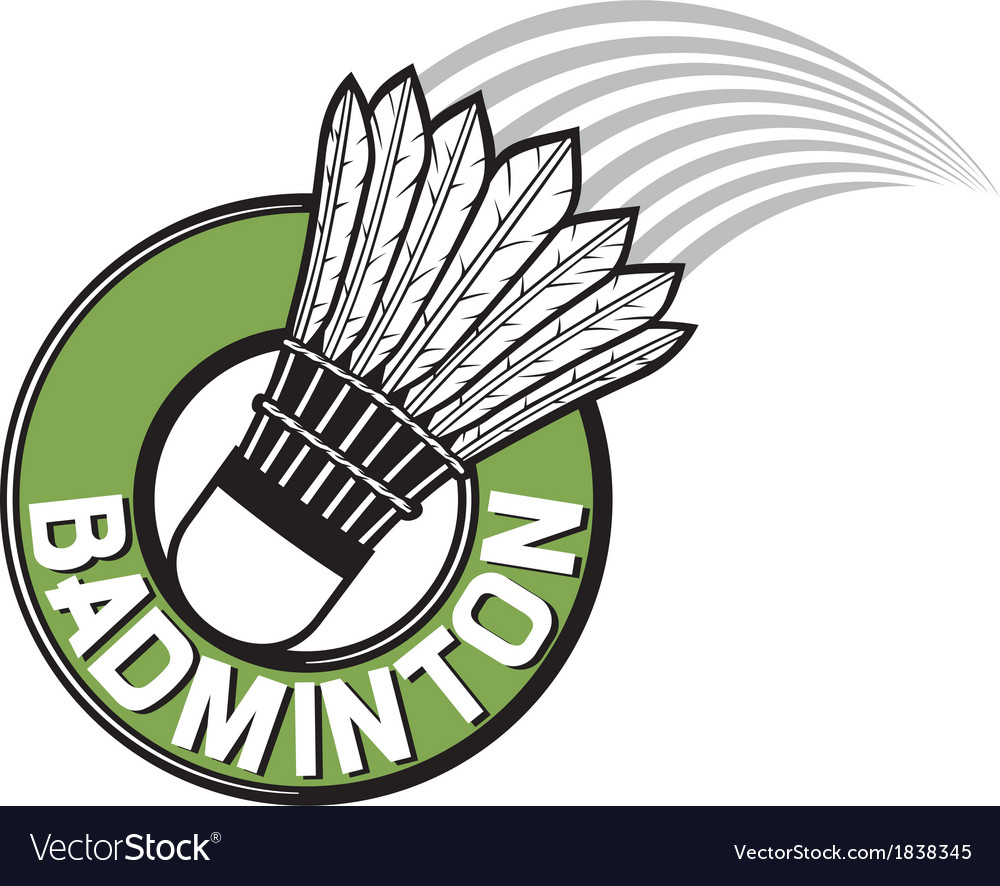 Badminton label vector | Price: 1 Credit (USD $1)