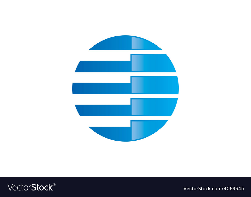Globe round communication abstract logo vector | Price: 1 Credit (USD $1)
