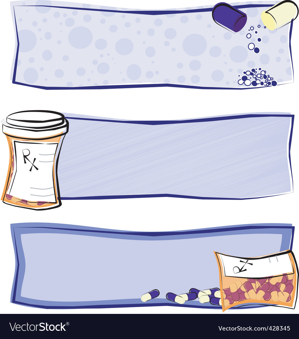 Medicine banners vector | Price: 1 Credit (USD $1)