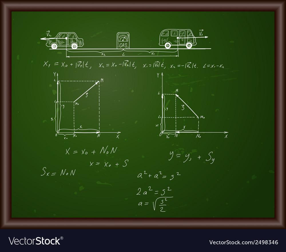 Back school physics vector | Price: 1 Credit (USD $1)