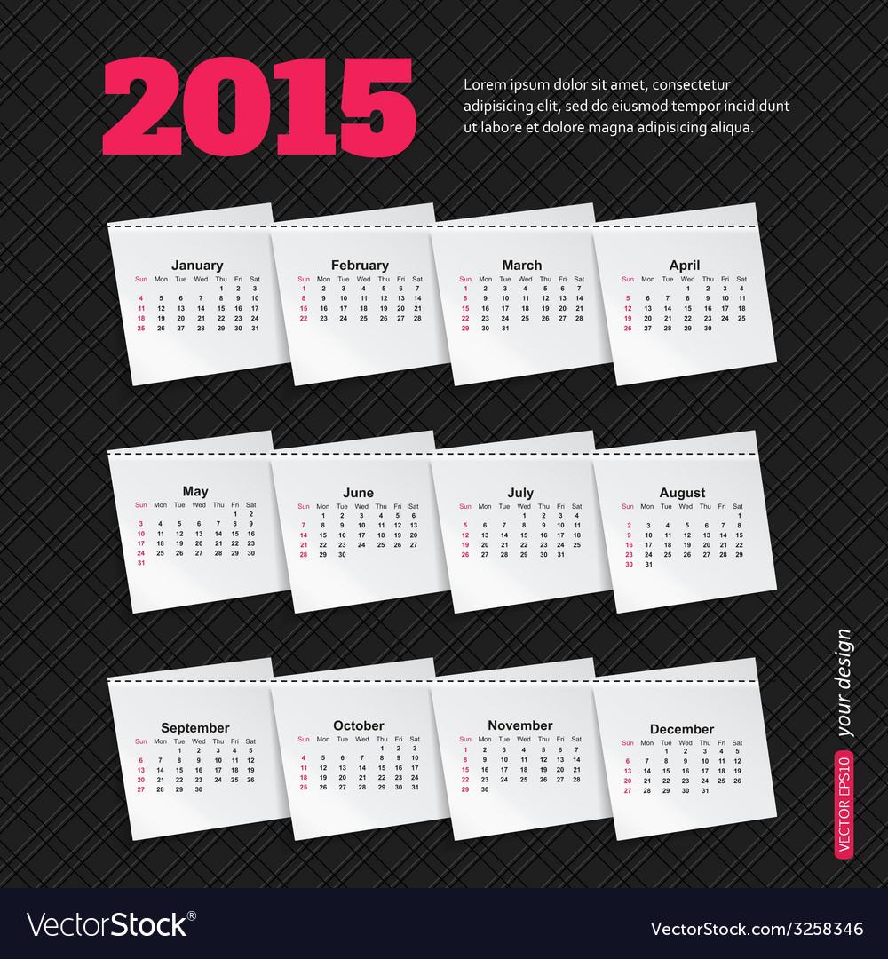 Calendar template brochure business design vector   Price: 1 Credit (USD $1)