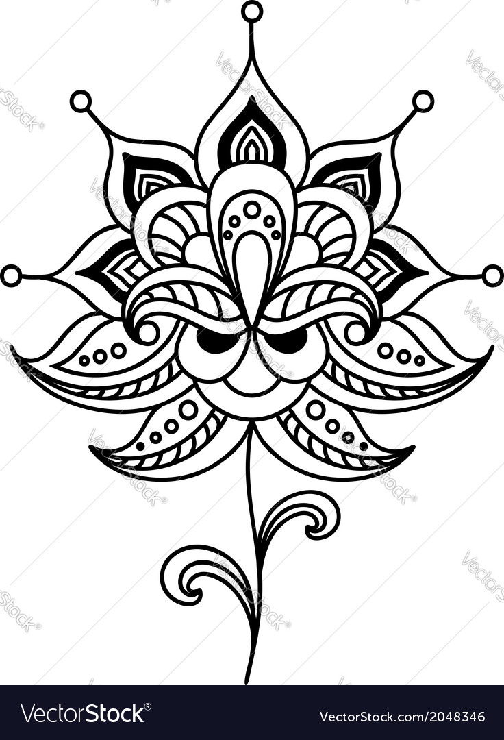 Calligraphic floral design element vector | Price: 1 Credit (USD $1)
