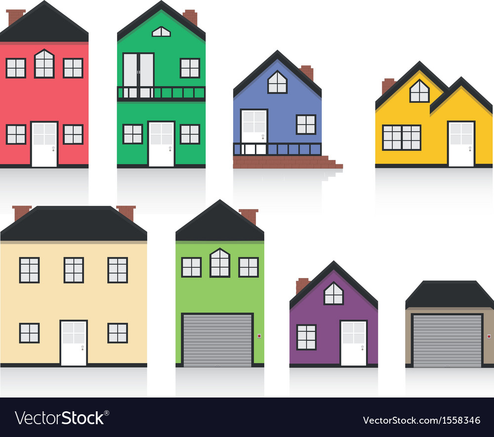 Colourful home collection vector | Price: 1 Credit (USD $1)