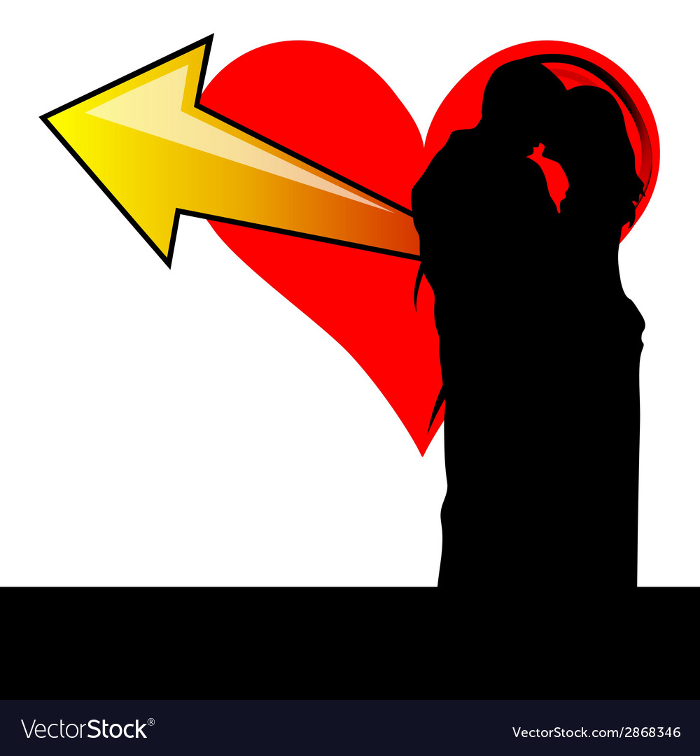 Couple with heart vector | Price: 1 Credit (USD $1)