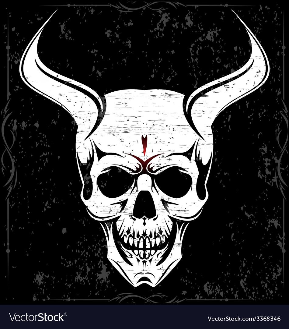 Devil skulls vector | Price: 1 Credit (USD $1)