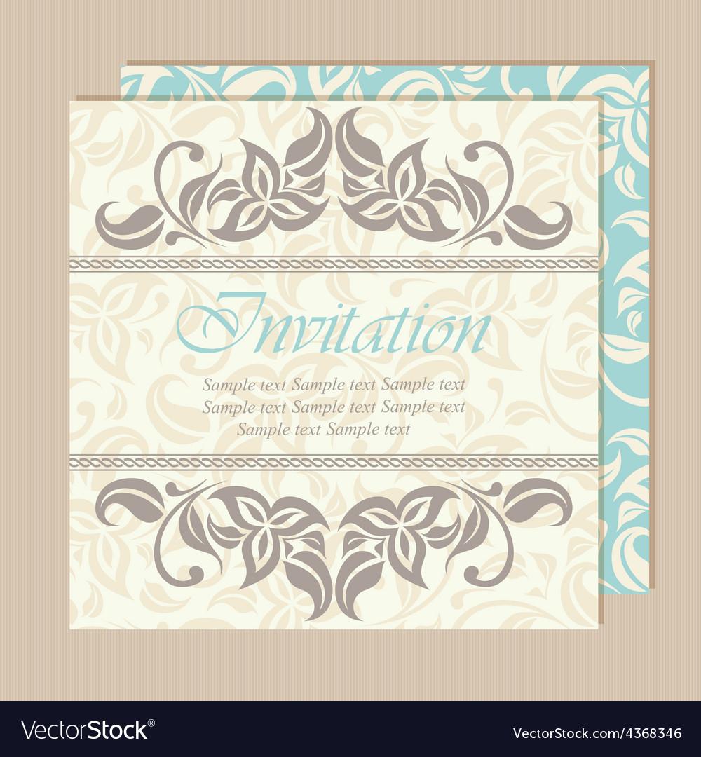 Floral wedding invitation card vector   Price: 1 Credit (USD $1)