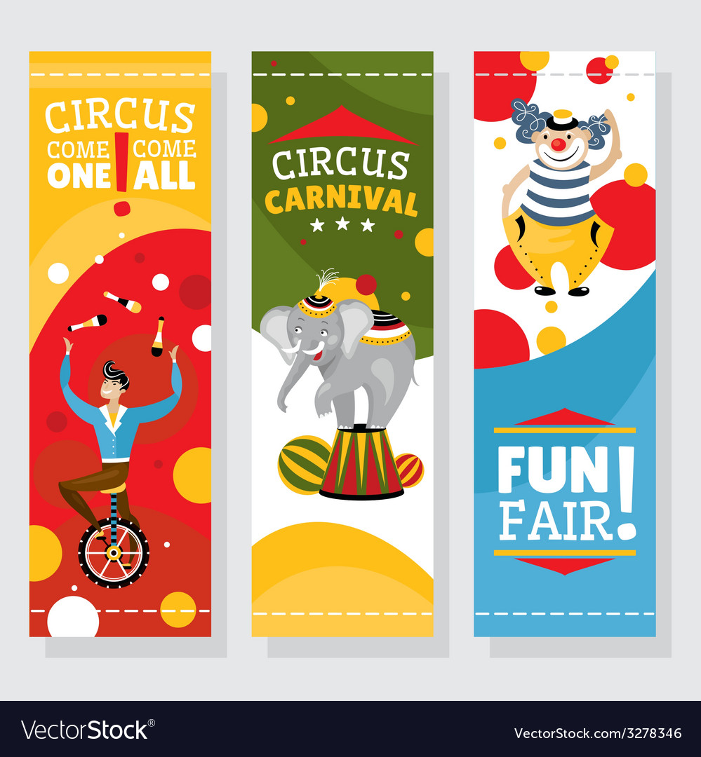 Funfair banners vector | Price: 1 Credit (USD $1)