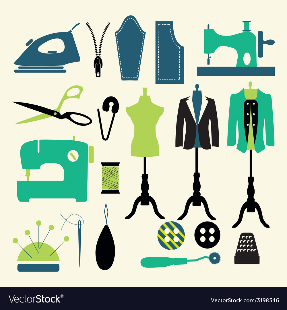 Icons-set-sewing-and-fashion vector | Price: 1 Credit (USD $1)