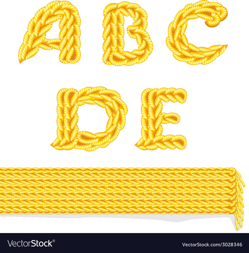 Knitted alphabet a e vector | Price: 1 Credit (USD $1)