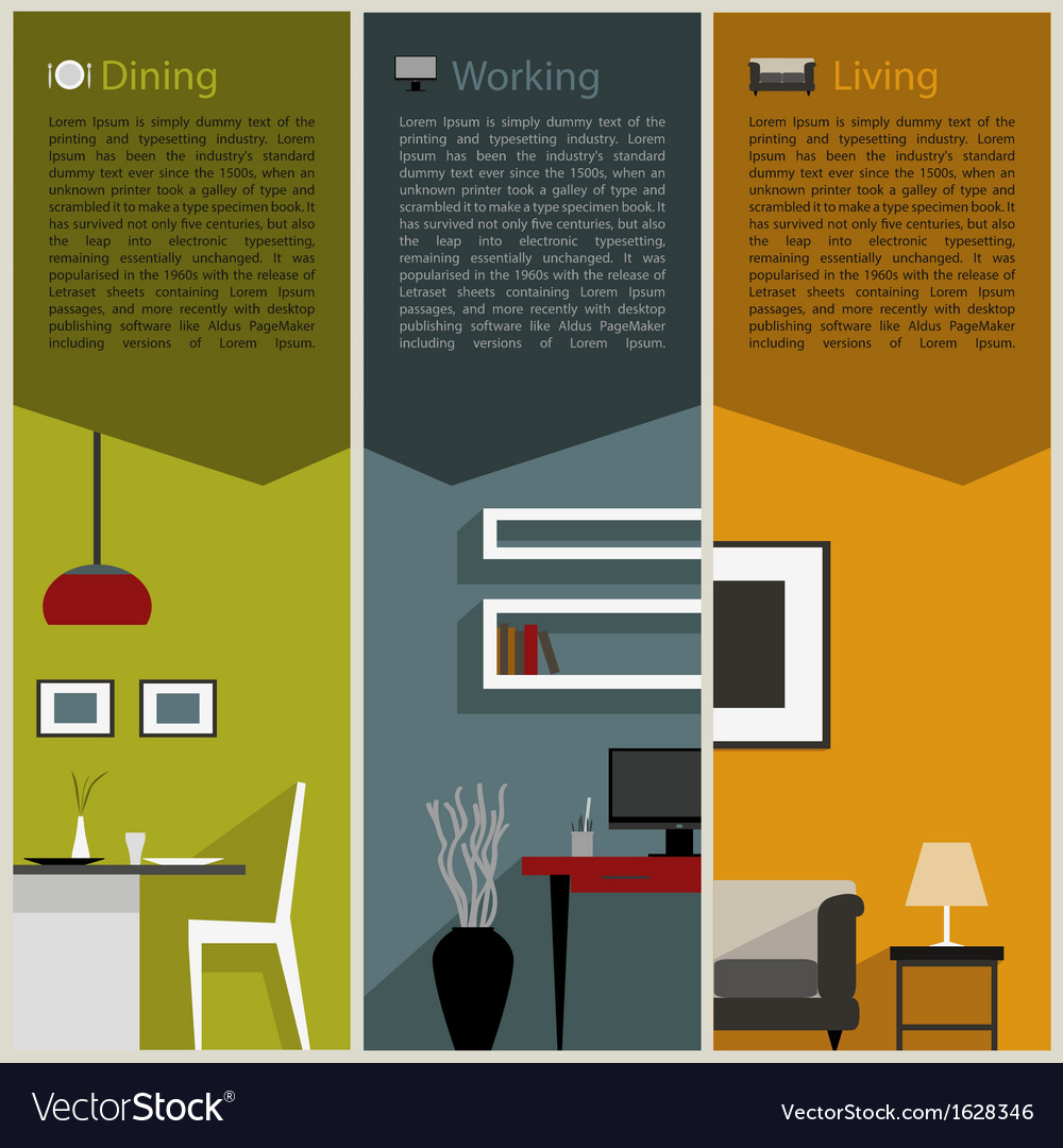 Paper folded for interior decoration concept vector | Price: 1 Credit (USD $1)