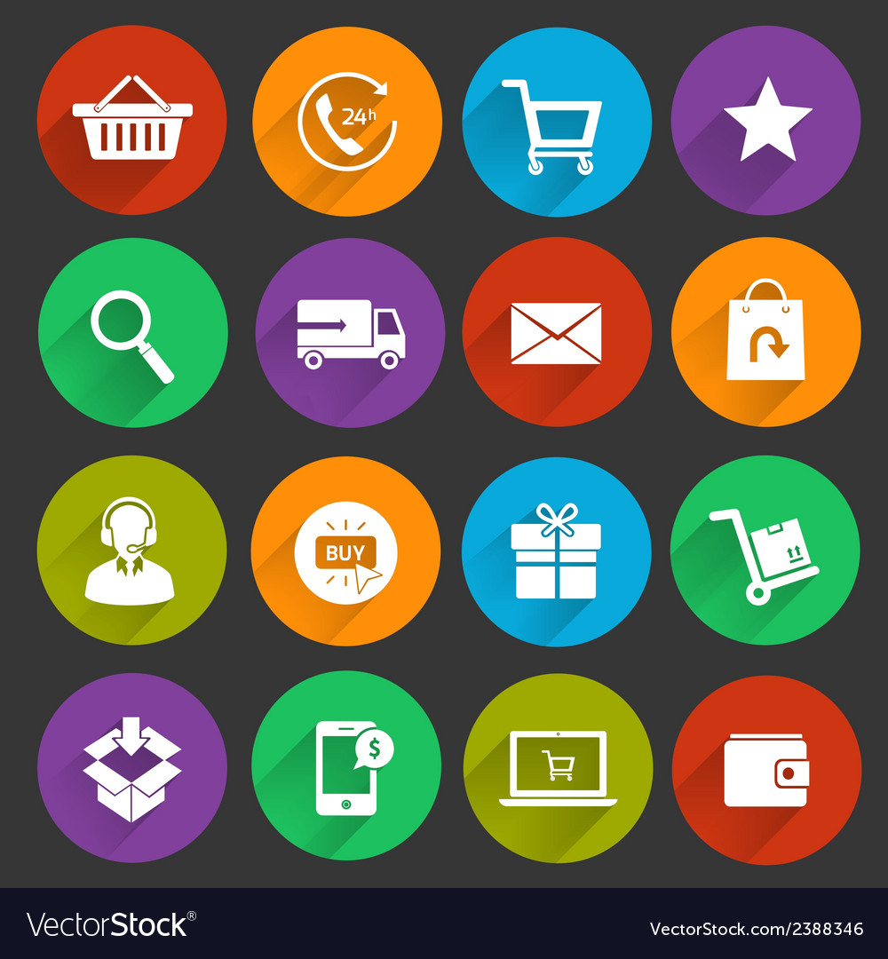 Shopping e-commerce icons vector | Price: 1 Credit (USD $1)