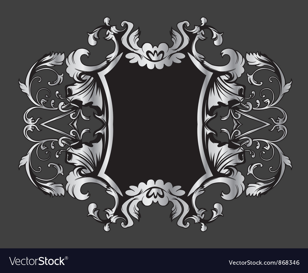 Vintage frame with floral vector | Price: 1 Credit (USD $1)