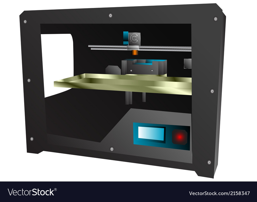 3d printer vector | Price: 1 Credit (USD $1)