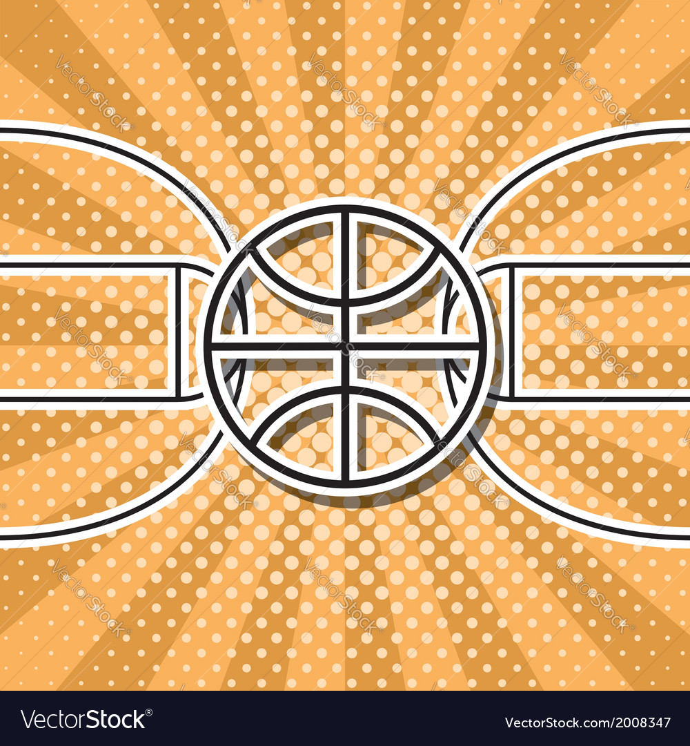Basketball symbol vector | Price: 1 Credit (USD $1)