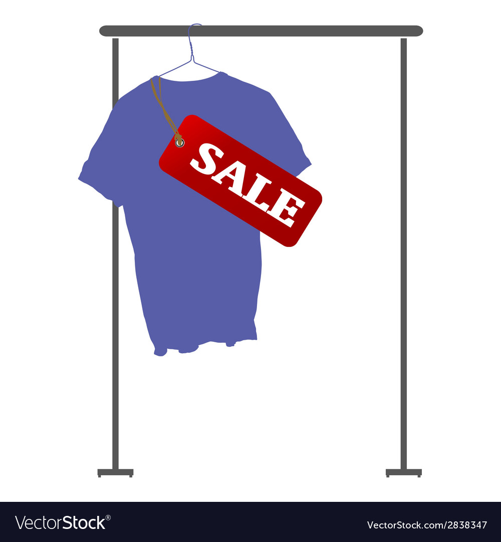 Blue shirt on sale vector | Price: 1 Credit (USD $1)