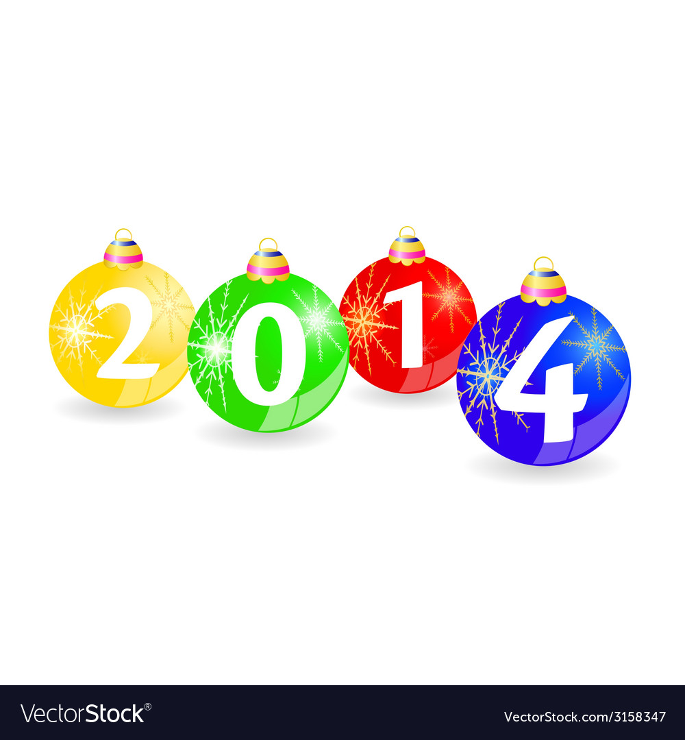 Christmas balls with 2014 vector | Price: 1 Credit (USD $1)