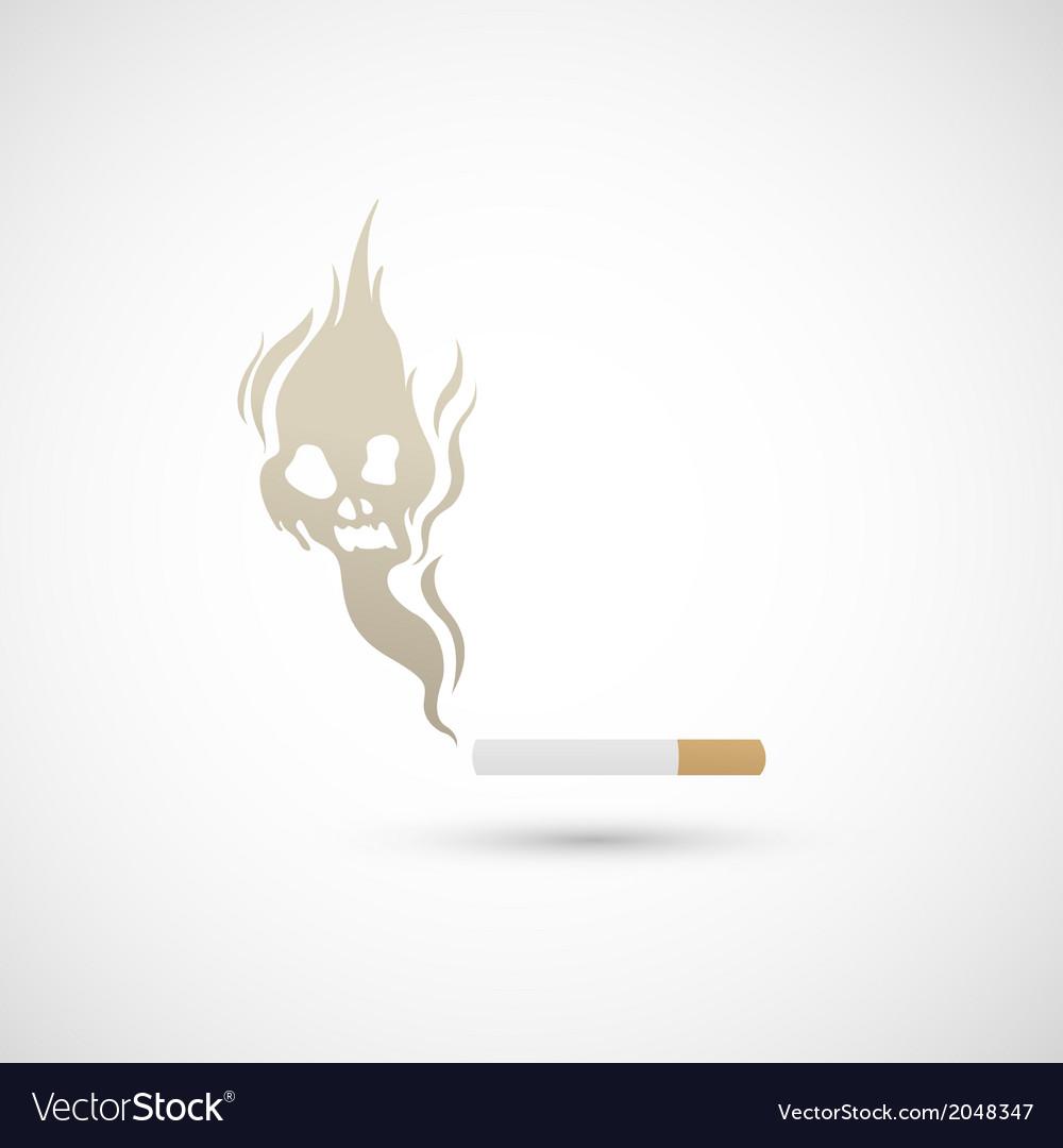 Cigarette and smoke icon vector | Price: 1 Credit (USD $1)