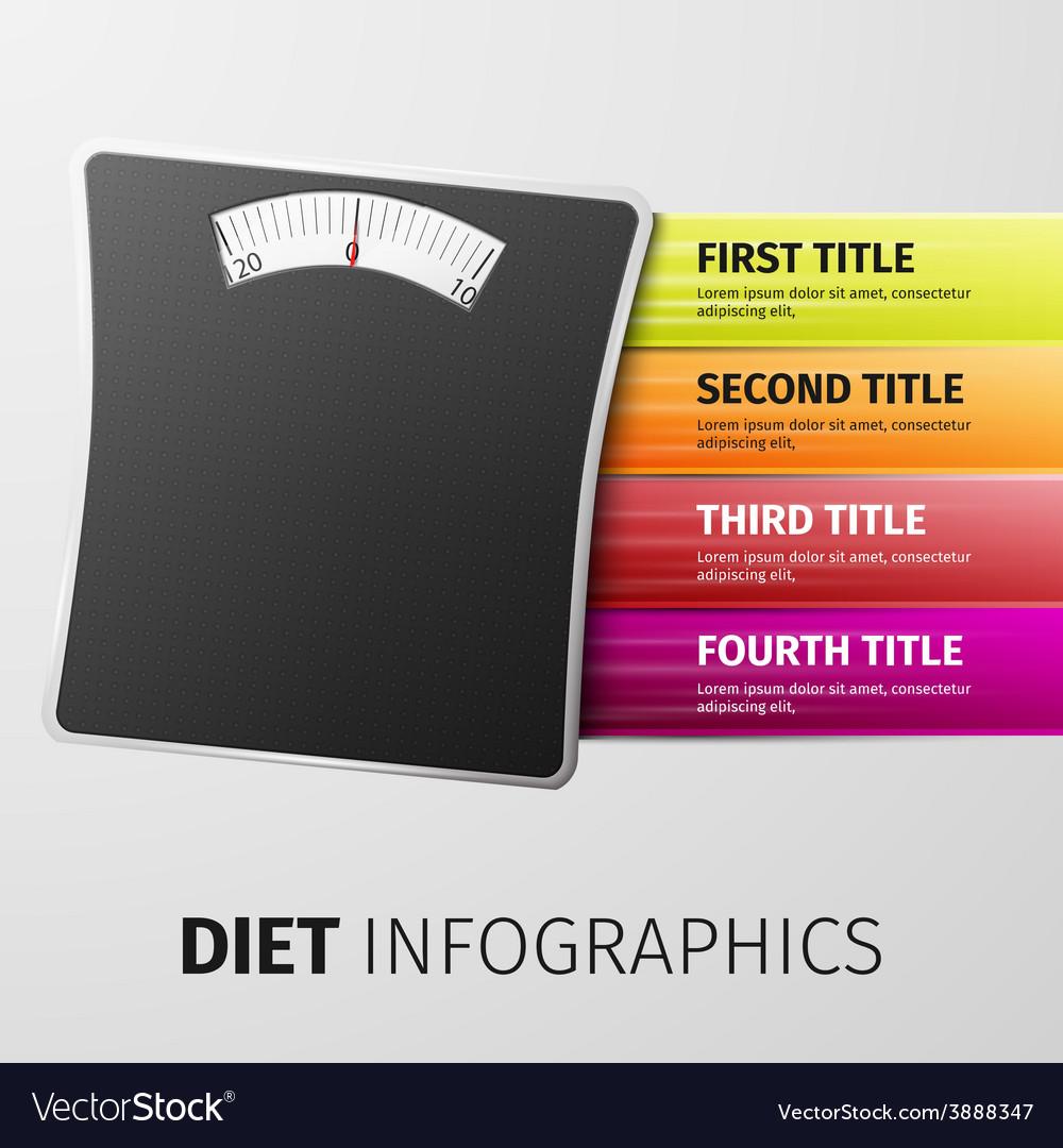 Diet infographics vector | Price: 1 Credit (USD $1)