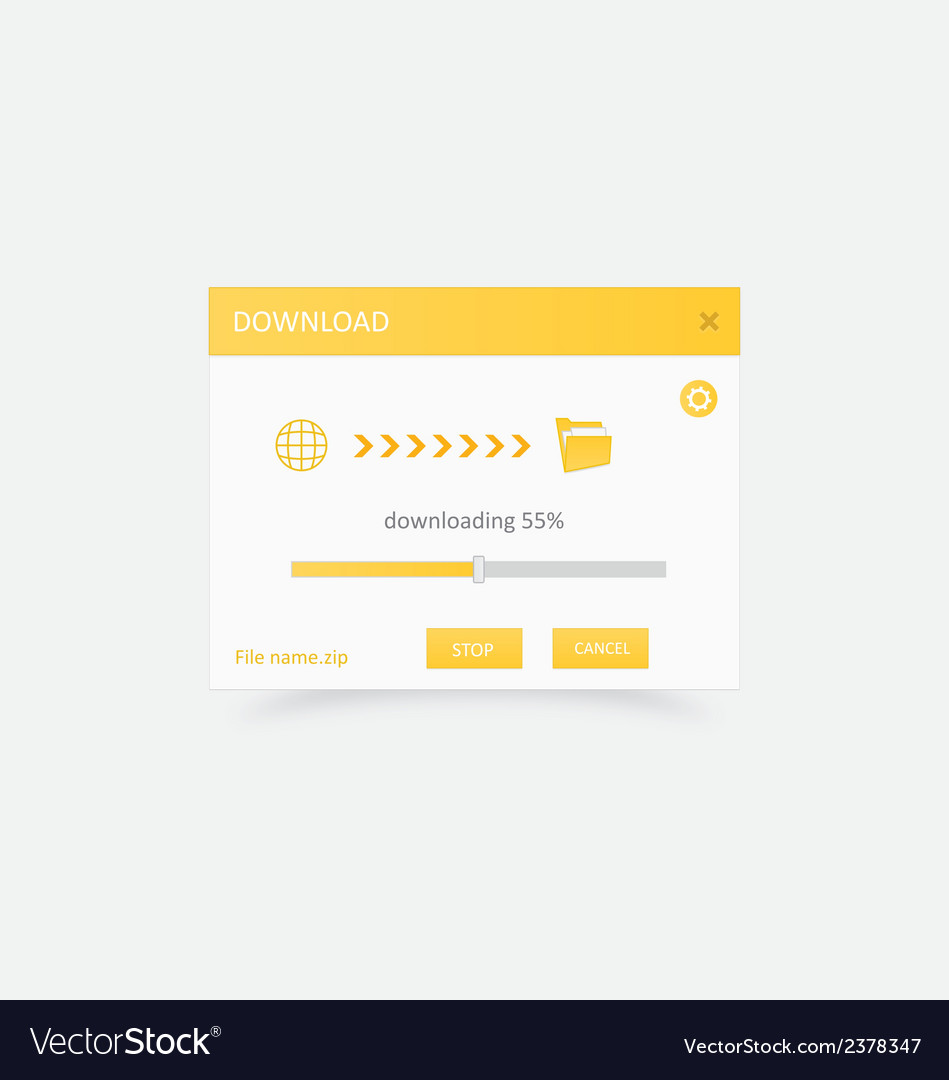 Downloading file with progress bar 3 vector | Price: 1 Credit (USD $1)
