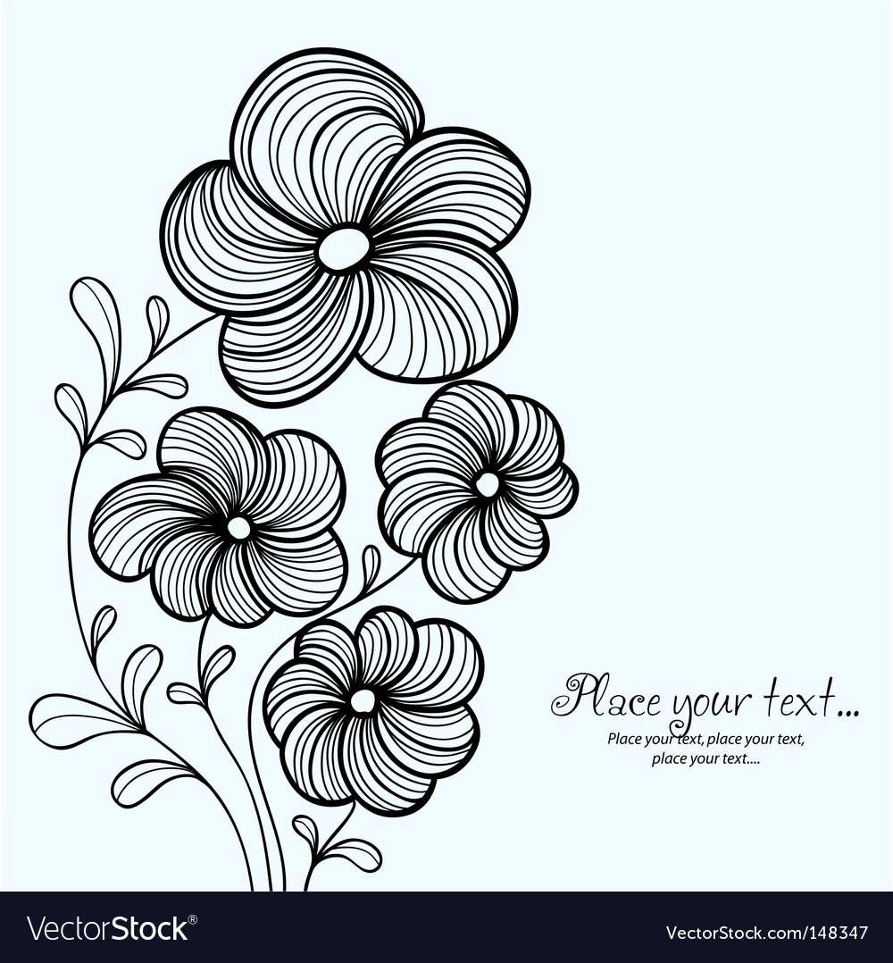 Floral background greeting card vector | Price: 1 Credit (USD $1)