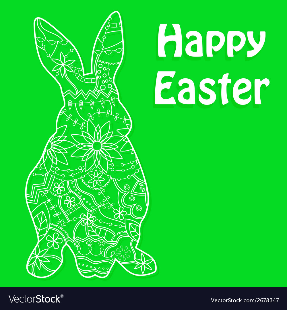 Happy easter green vector | Price: 1 Credit (USD $1)