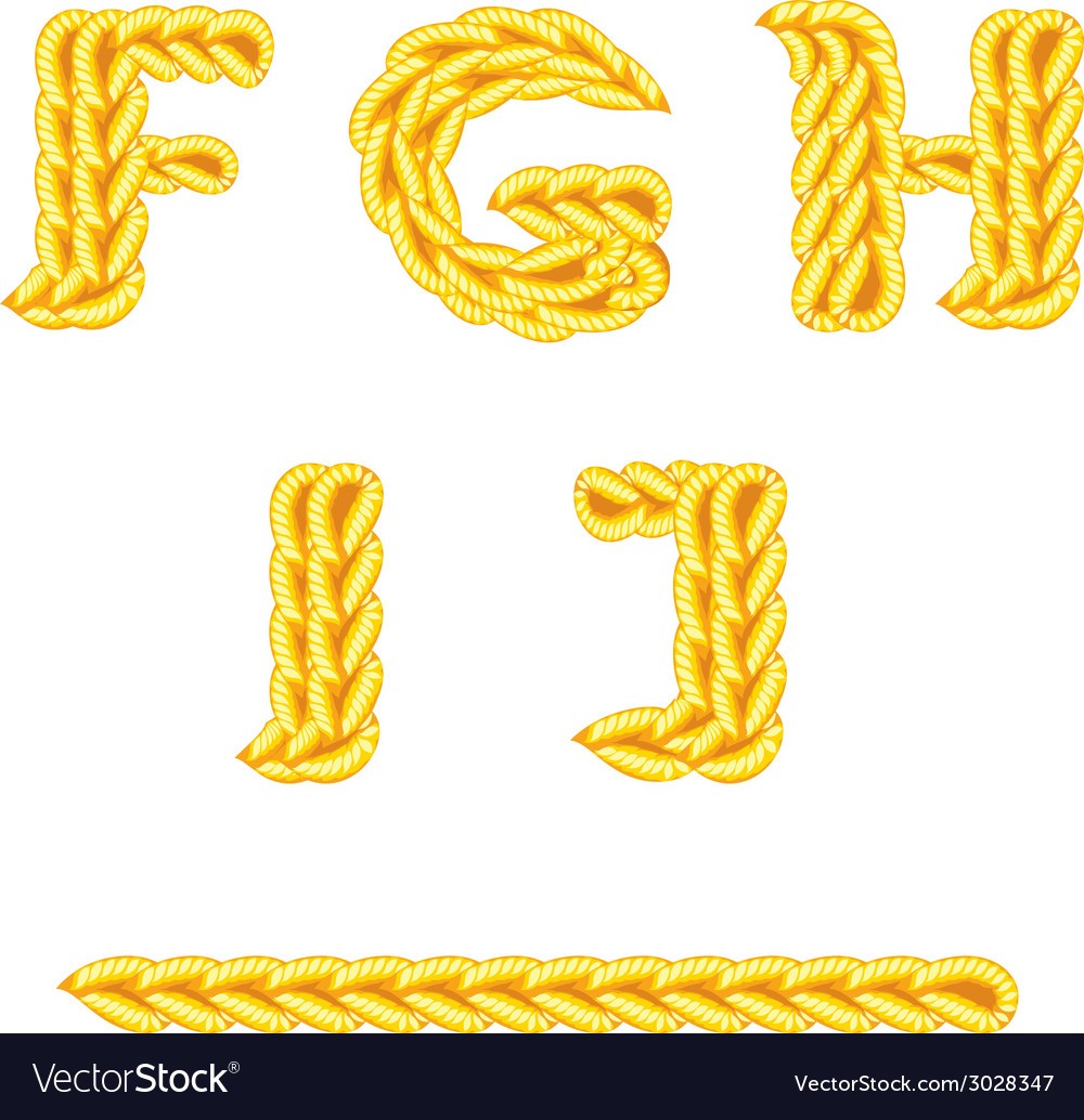 Knitted alphabet f j vector | Price: 1 Credit (USD $1)