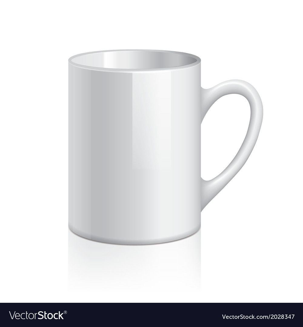 Object white cup vector | Price: 1 Credit (USD $1)