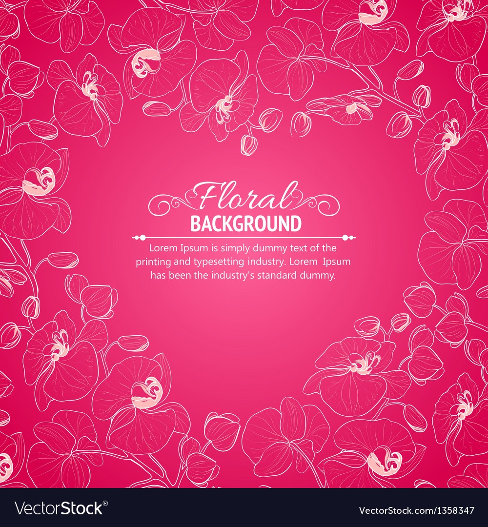 Orchid flower drawing template vector | Price: 1 Credit (USD $1)
