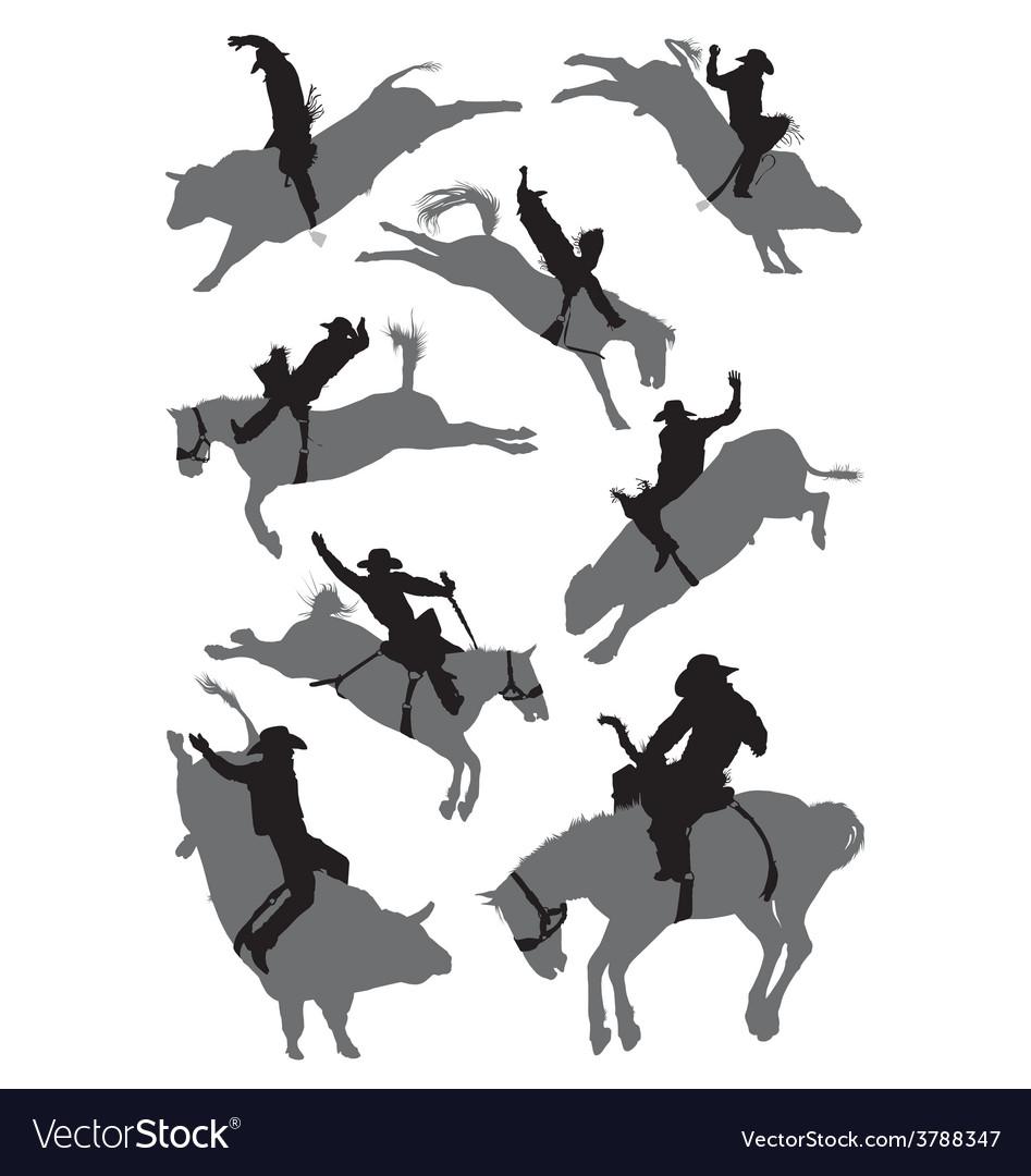 Rodeo cowboy vector   Price: 1 Credit (USD $1)