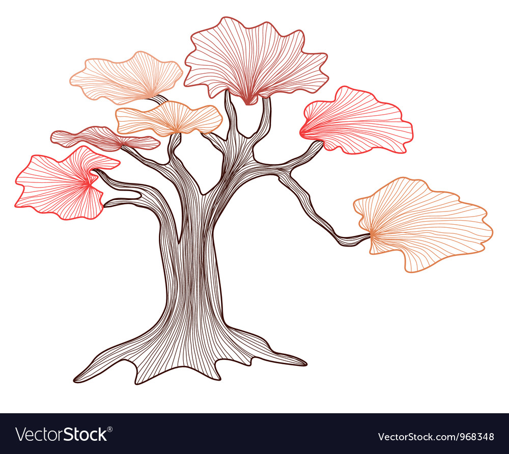 Abstract bonsai tree vector | Price: 1 Credit (USD $1)