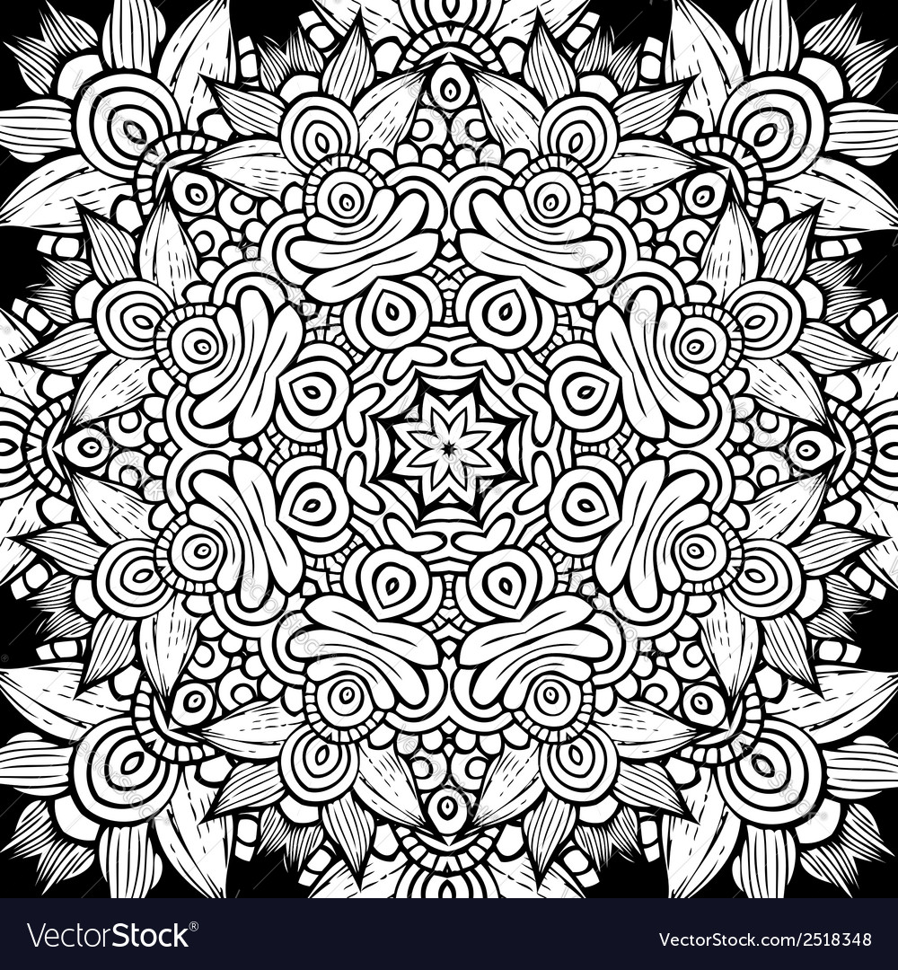 Circle decorative ornamental pattern vector | Price: 1 Credit (USD $1)