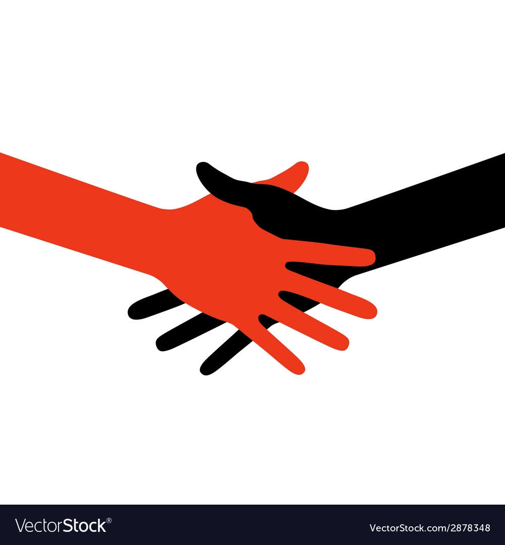 Colorful icon hand shake for business and finance vector | Price: 1 Credit (USD $1)