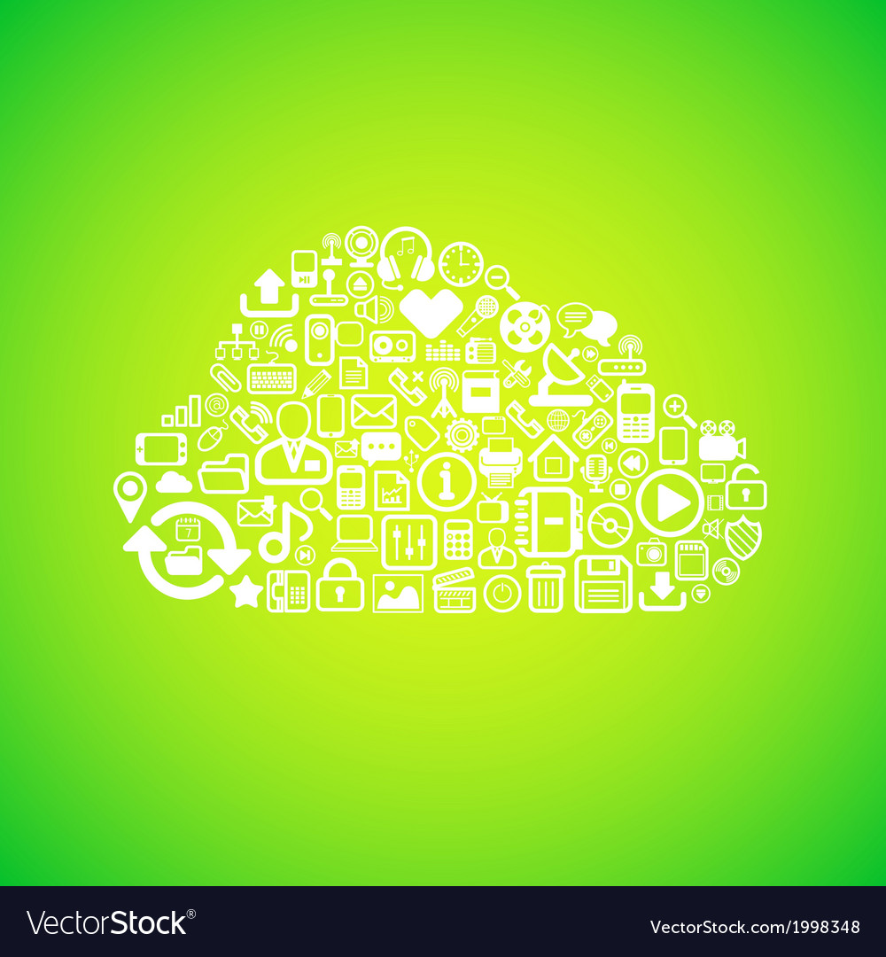 Computer cloud icon vector | Price: 1 Credit (USD $1)
