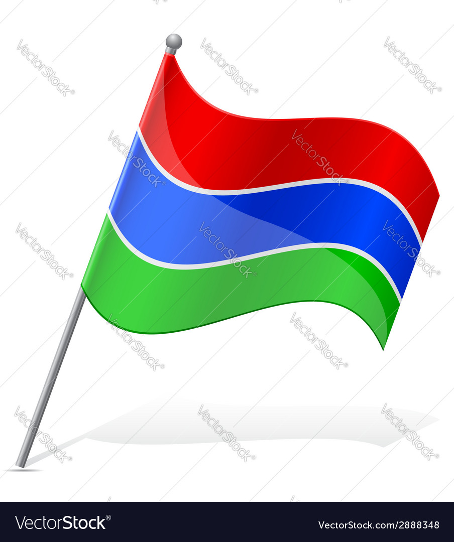 Flag of gambia vector | Price: 1 Credit (USD $1)
