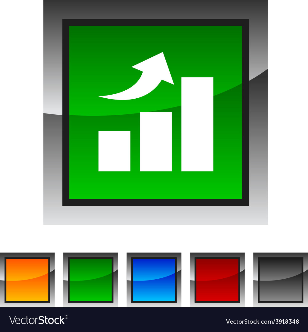 Growth icons vector | Price: 1 Credit (USD $1)