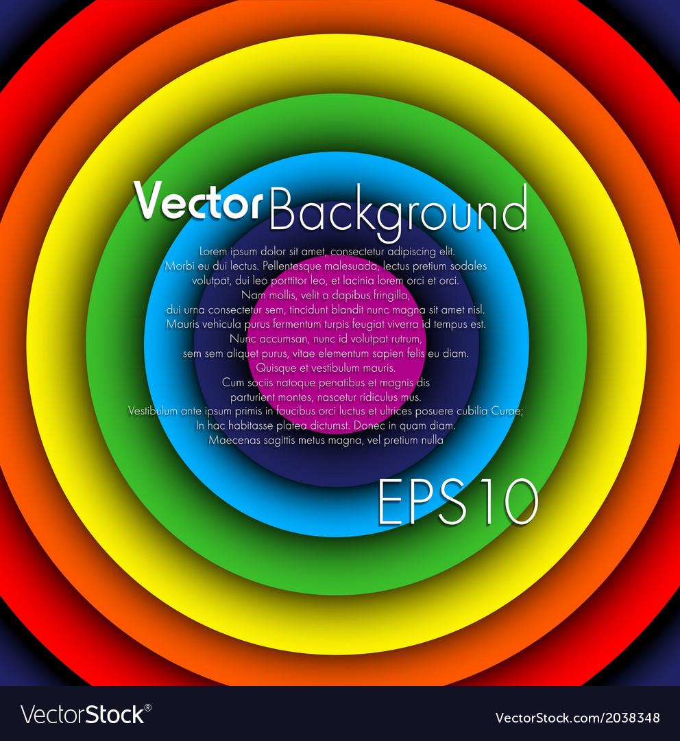 Rainbow circle background vector