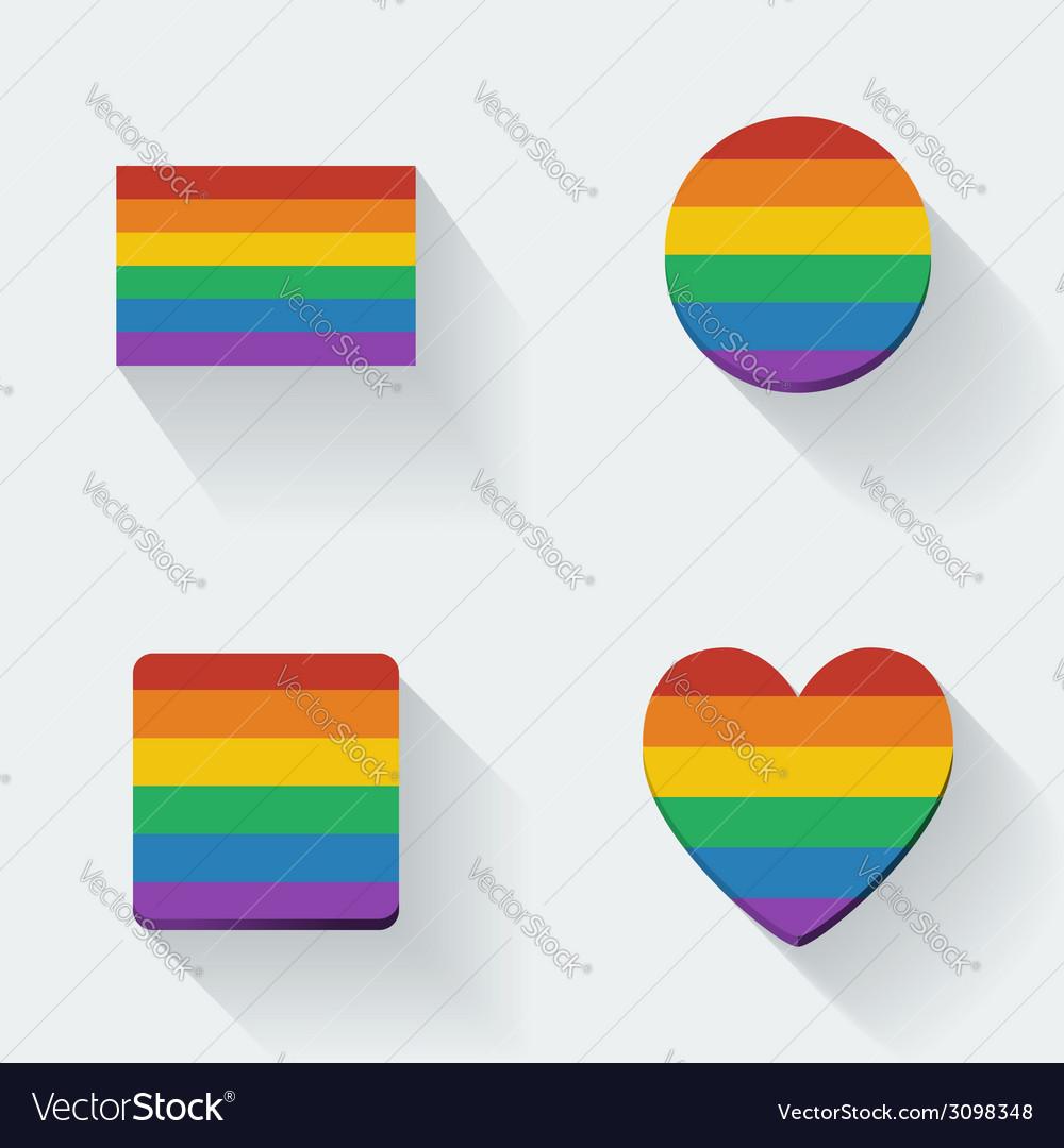 Rainbow flags vector | Price: 1 Credit (USD $1)