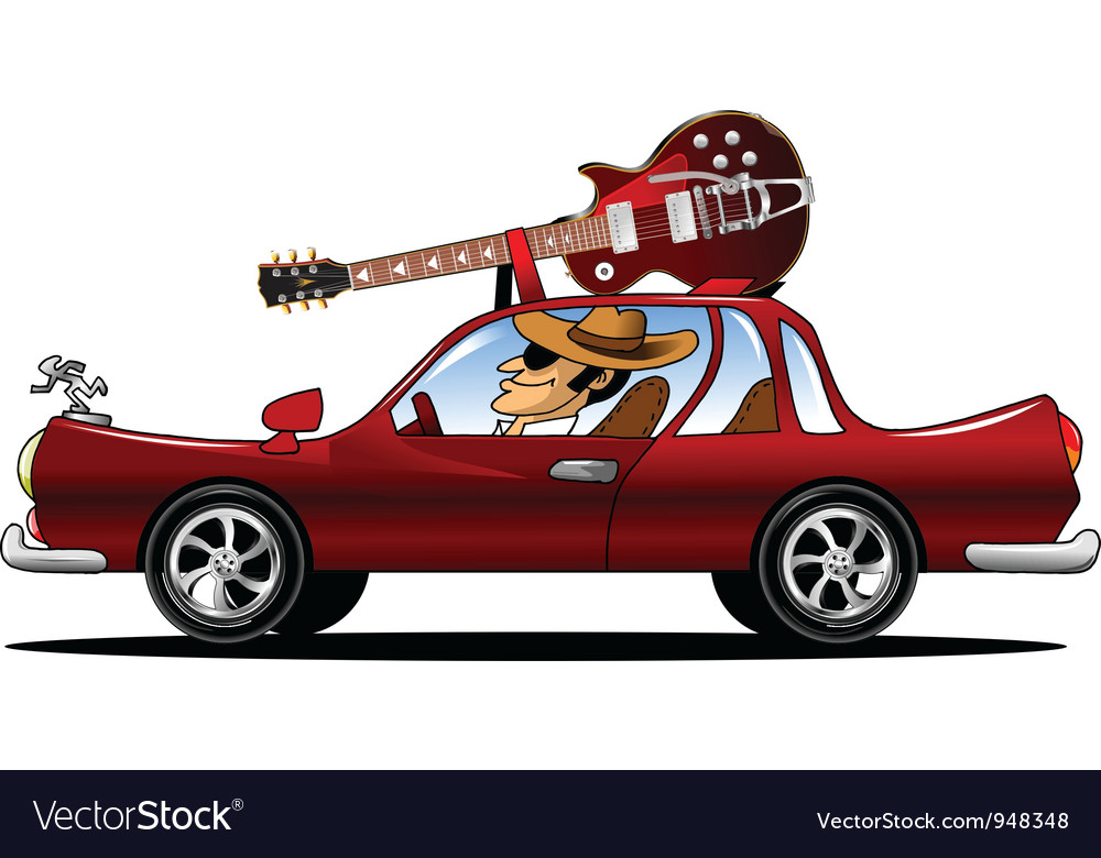 Rock star driving vector | Price: 1 Credit (USD $1)