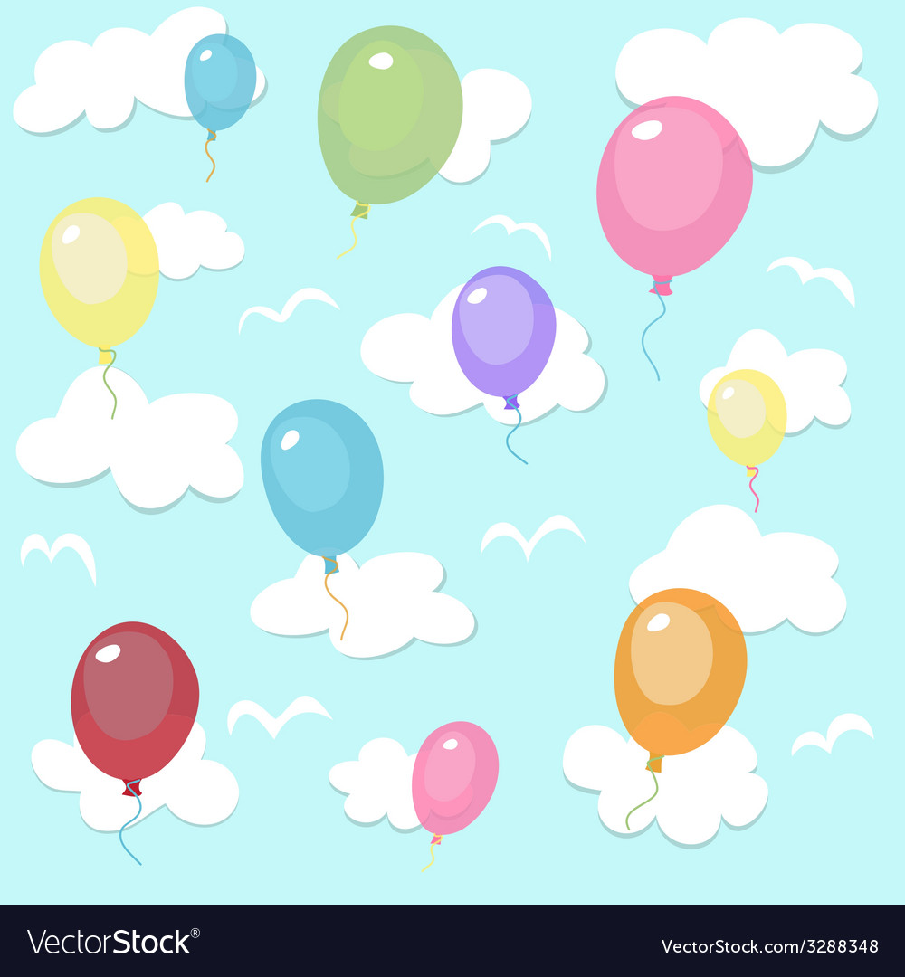 Seamless pattern with colorful balloons vector