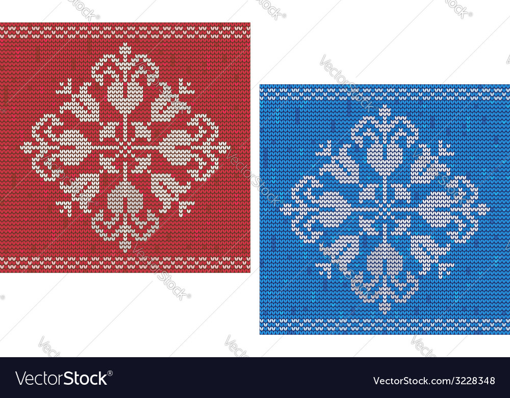Snowflake knitted pattern vector | Price: 1 Credit (USD $1)