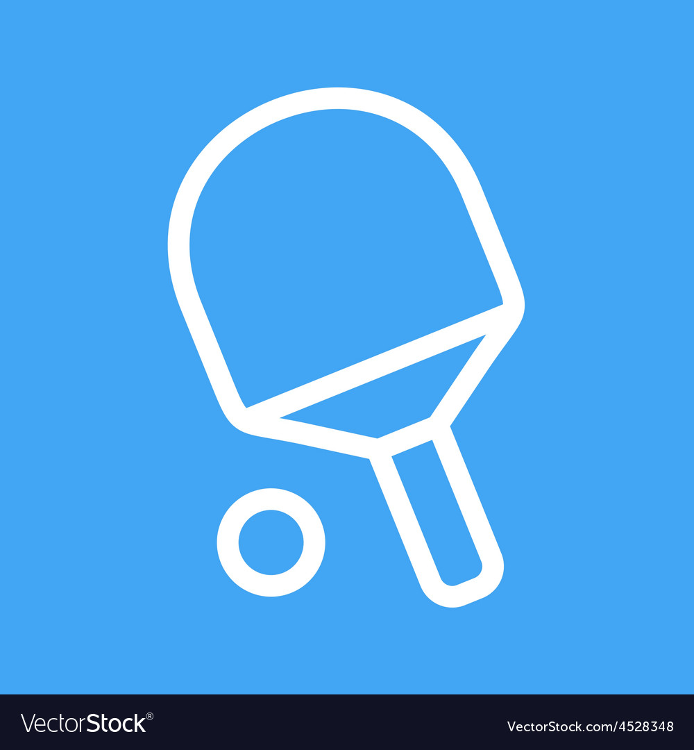 Table tennis vector | Price: 1 Credit (USD $1)
