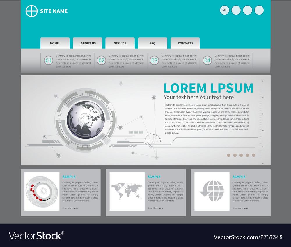 Website template vector | Price: 1 Credit (USD $1)